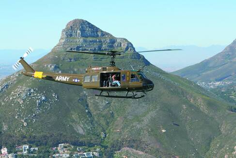 Huey Helicopter Cape Town - 15min Scenic Huey Tour view