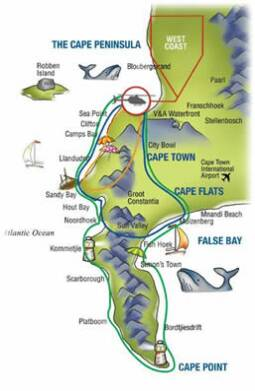 Cape Town Full Helicopter scenic map